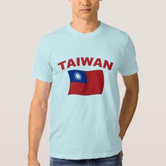 Bandera 3 de Taiwán Remeras