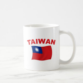 Bandera 3 de Taiwán Taza Clásica