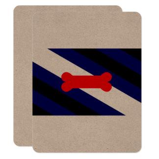 """Bandera 4,25"""" del orgullo del juego del perrito invitación 4.25"""" x 5.5"""""""