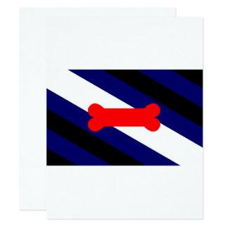 """Bandera 4,25"""" del orgullo del juego del perrito x invitación 4.25"""" x 5.5"""""""