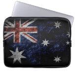 Bandera 4 de Australia del Grunge Mangas Portátiles