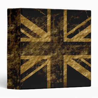 """Bandera 5 de Reino Unido del Grunge Carpeta 1 1/2"""""""
