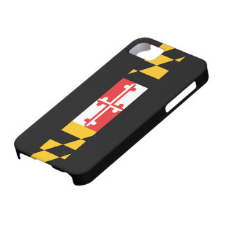 Bandera 5s de Maryland Funda Para iPhone 5 Barely There