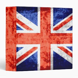 """Bandera 6 de Reino Unido del Grunge Carpeta 1 1/2"""""""