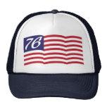 Bandera 76 gorros bordados