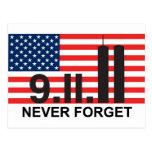 bandera 911 tarjeta postal