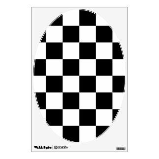 Bandera a cuadros a cuadros el competir con auto