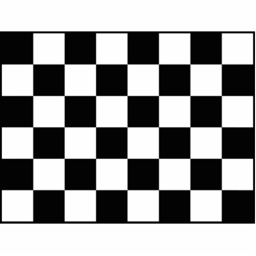 Bandera a cuadros a cuadros el competir con auto fotoescultura vertical