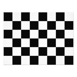 Bandera a cuadros a cuadros el competir con auto impresion fotografica