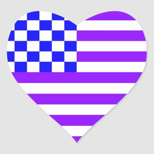 Bandera a cuadros americana 1 RG Calcomanía De Corazón