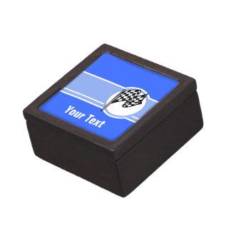 Bandera a cuadros; Azul Caja De Joyas De Calidad