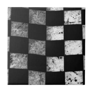 Bandera a cuadros azulejo cuadrado pequeño