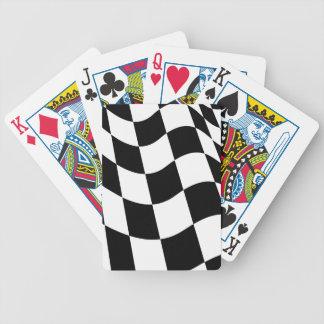 Bandera a cuadros cartas de juego