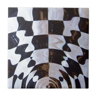 Bandera a cuadros con efecto dominó azulejo cuadrado pequeño