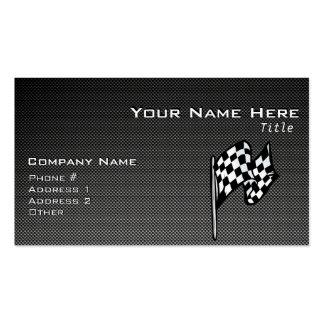 Bandera a cuadros de la mirada de la fibra de carb plantilla de tarjeta personal
