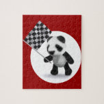 bandera a cuadros de la panda del bebé 3d puzzles