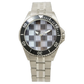 Bandera a cuadros linear relojes de pulsera