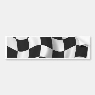 Bandera a cuadros ondulada pegatina para auto