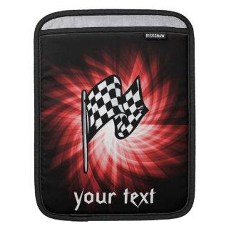 Bandera a cuadros rojo manga de iPad