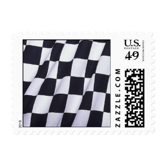 Bandera a cuadros timbres postales