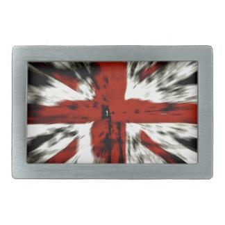Bandera abstracta de Inglaterra Reino Unido Hebilla Cinturón Rectangular