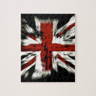 Bandera abstracta de Inglaterra Reino Unido Puzzles