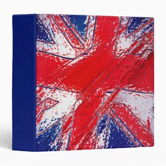 """Bandera abstracta de Reino Unido Carpeta 1 1/2"""""""