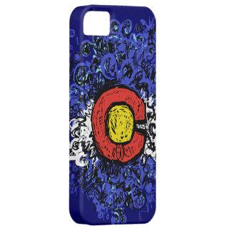 Bandera abstracta de Swirly Colorado Funda Para iPhone 5 Barely There