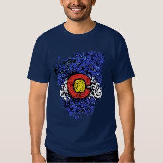 Bandera abstracta de Swirly Colorado Polera