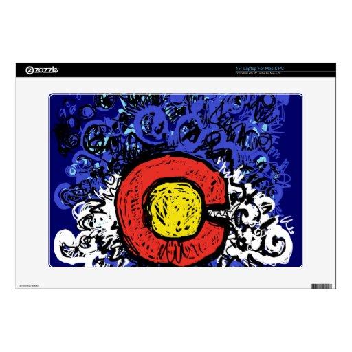 Bandera abstracta de Swirly Colorado Portátil Calcomanía