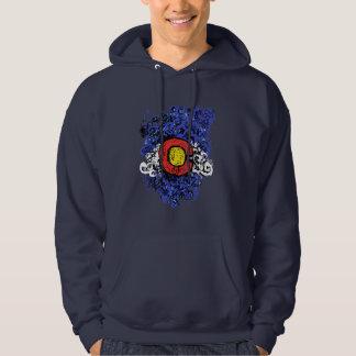 Bandera abstracta de Swirly Colorado Sudadera Con Capucha