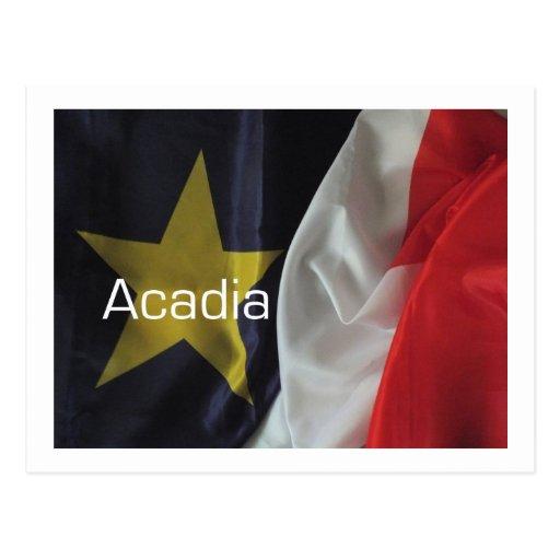 Bandera acadiense 3 postales