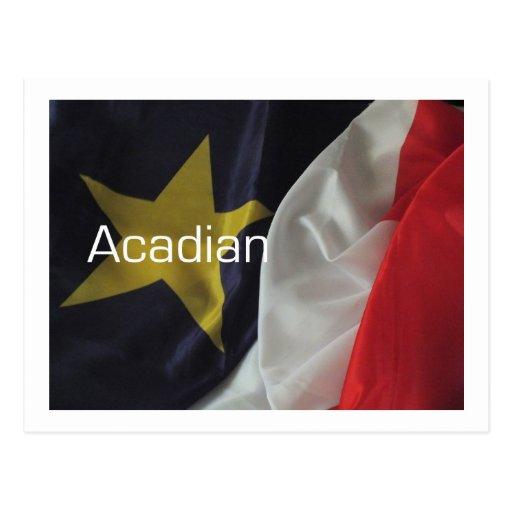 Bandera acadiense postales