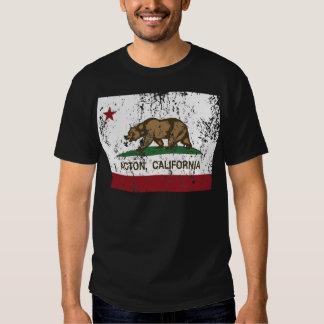 bandera Acton de California apenado Playeras