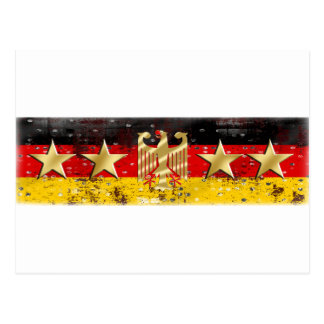Bandera Adler Eagle Deutschland Fußball 2014 de Tarjeta Postal