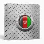 Bandera afgana industrial con el gráfico de acero
