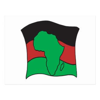 Bandera africana postales