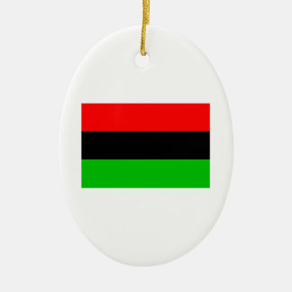 Bandera afroamericana ornamento de navidad