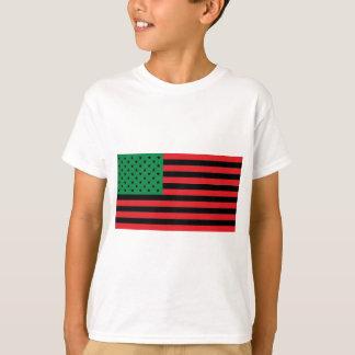 Bandera afroamericana - negro y verde rojos playera