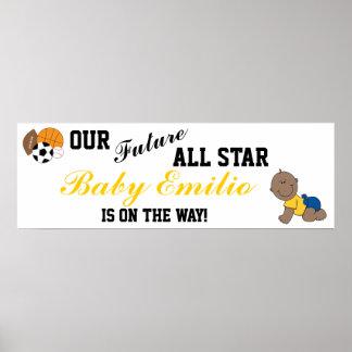 Bandera agradable de All Star del bebé Posters