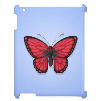 Bandera albanesa de la mariposa en azul