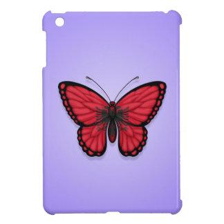 Bandera albanesa de la mariposa en púrpura