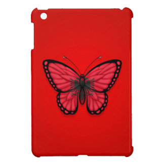 Bandera albanesa de la mariposa en rojo