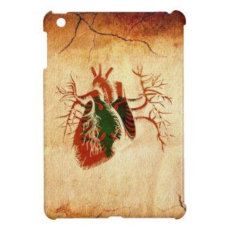Bandera albanesa en corazón real iPad mini protectores