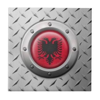 Bandera albanesa industrial con el gráfico de teja