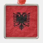 Bandera albanesa ornamentos de reyes magos