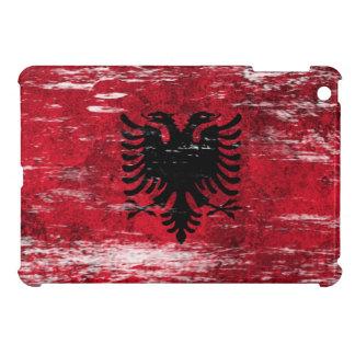 Bandera albanesa rascada y llevada iPad mini carcasa
