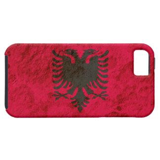 Bandera albanesa rugosa iPhone 5 fundas