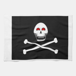 Bandera alegre de Fanged Rogelio Toalla De Cocina