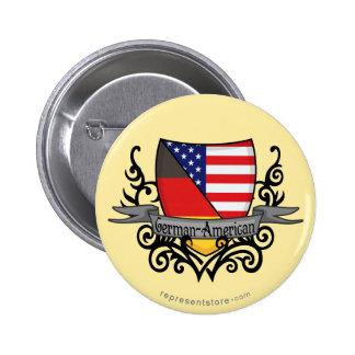 Bandera Alemán-Americana del escudo Pin Redondo De 2 Pulgadas